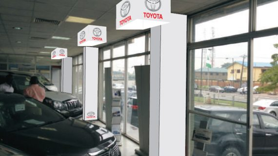 Rebranding of Mandilas' Toyota Showroom